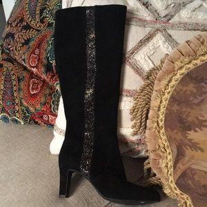 Alex Marie NEW! Black Suede boots 8.5